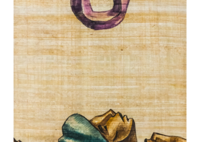 HBOR-02   Acrylic on Papyrus   70.5 x 51 cm   2019