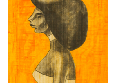 HBOR-05  Acrylic on Papyrus   70.5 x 51 cm   2019