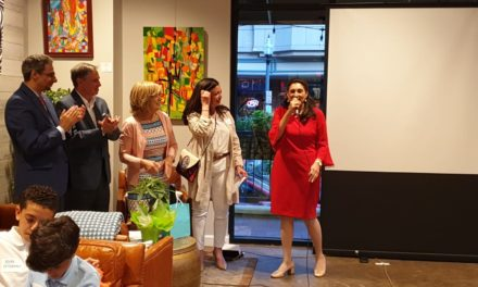 """The inauguration of """"A New Legacy: Contemporary Art of Egypt"""" with over 50 pieces at Falls Church Arts Gallery, Virginia."""