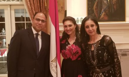 Showcasing a selection of pieces, in celebration of Egyptian National Day at the Egyptian Embassy in Ottawa.